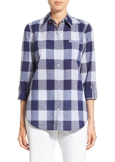 Lafayette 148 New York Patchwork Plaid Blouse