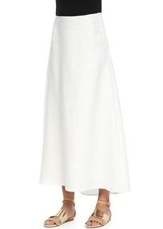 Lafayette 148 New York Patio Linen Skirt, White