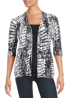 LAFAYETTE 148 NEW YORK Patterned Open Front Cardigan