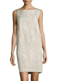 Lafayette 148 New York Patterned Sleeveless Jacquard Dress