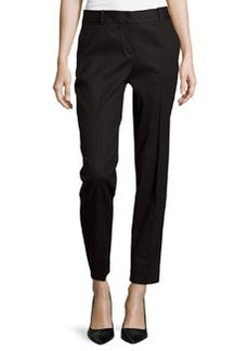 Lafayette 148 New York Perry Linen Ankle Pants, Black