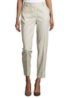 Lafayette 148 New York Perry Linen Ankle Pants, Opal