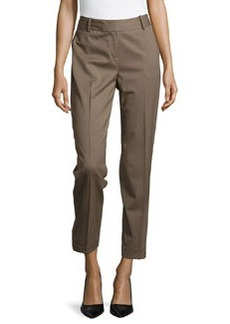 Lafayette 148 New York Perry Slim Cuffed Suiting Pants, Nougat