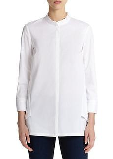 Lafayette 148 New York Pia Draped-Back Shirt