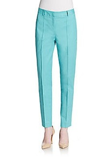 Lafayette 148 New York Pintuck Seam Straight-Leg Pants
