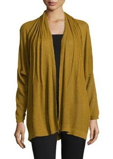 Lafayette 148 New York Pintucked Dolman Cardigan, Dijon