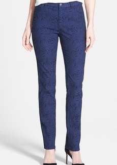 Lafayette 148 New York Piped Jacquard Stretch Jeans (Delft Multi)