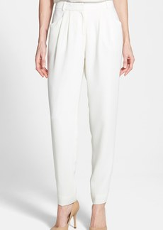Lafayette 148 New York Pleat Front Crepe Ankle Pants (Regular & Petite)