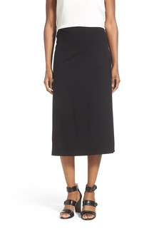 Lafayette 148 New York Pleat Inset Punto Milano A-Line Skirt