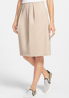 Lafayette 148 New York Pleat Twill A-Line Skirt