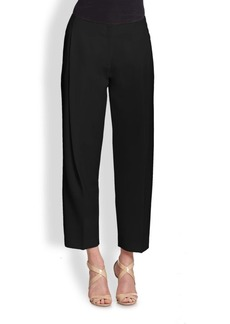 Lafayette 148 New York Pleated Crepe Ankle Pants