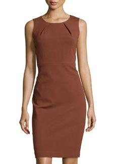 Lafayette 148 New York Pleated Sleeveless Sheath Dress, Russet