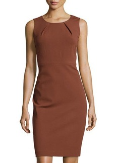 Lafayette 148 New York Pleated Sleeveless Sheath Dress