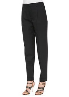 Lafayette 148 New York Pleated Stretch-Twill Pants