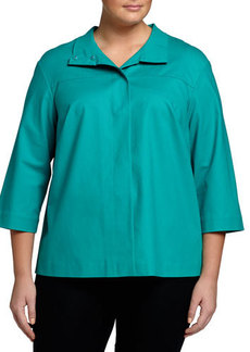 Lafayette 148 New York Plus Hara Bracelet-Sleeve Topper Jacket