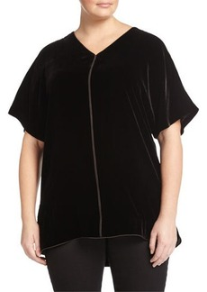 Lafayette 148 New York Plus Katia Short-Sleeve Dolman Tunic
