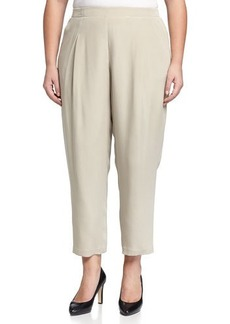 Lafayette 148 New York Plus Pleated Straight-Leg Pull-On Pants