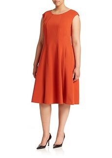 Lafayette 148 New York, Plus Size Bev Ponte Milano Dress