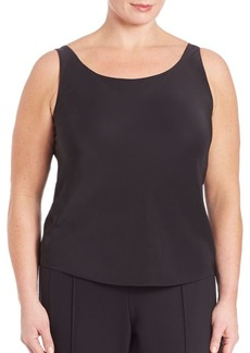 Lafayette 148 New York, Plus Size Charmeuse Tank