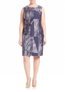 Lafayette 148 New York, Plus Size Delia Prism Jacquard Dress
