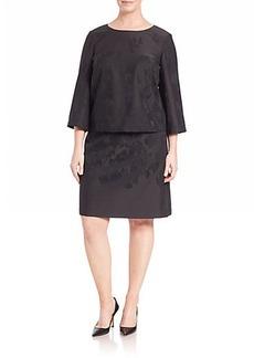 Lafayette 148 New York, Plus Size Disguised Floral-Jacquard Belinda Dress