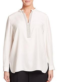 Lafayette 148 New York, Plus Size Dunham Silk Blouse