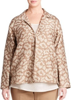 Lafayette 148 New York, Plus Size Embroidered Jacquard Jacket