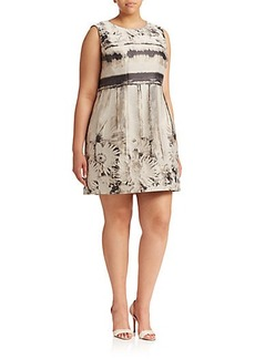Lafayette 148 New York, Plus Size Evelyn Floral Jacquard Dress
