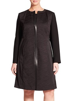 Lafayette 148 New York, Plus Size Frances Akita Jacquard Combo Jacket