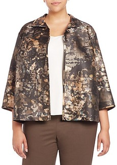 Lafayette 148 New York, Plus Size Griffin Printed Jacket