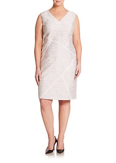 Lafayette 148 New York, Plus Size Kiersten Sakura Jacquard Dress