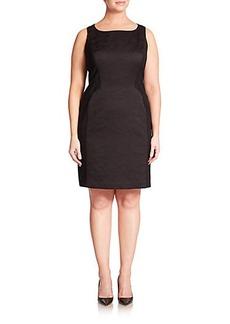Lafayette 148 New York, Plus Size Kimberly Akita Jacquard Combo Dress