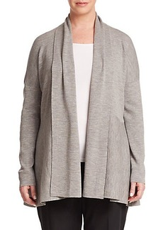 Lafayette 148 New York, Plus Size Merino Wool Shawl Cardigan