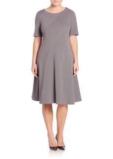 Lafayette 148 New York, Plus Size Ponte Fit-&-Flare Dress