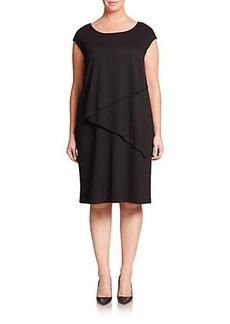 Lafayette 148 New York, Plus Size Ponte Layered Dress