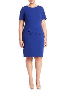 Lafayette 148 New York, Plus Size Ponte Peplum Dress