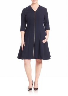 Lafayette 148 New York, Plus Size Rosalie Crepe Dress