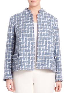Lafayette 148 New York, Plus Size Scottish Tweed Hollis Jacket