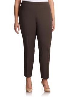 Lafayette 148 New York, Plus Size Stretch Wool Bleecker Pants