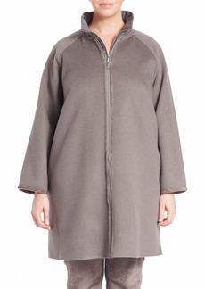 Lafayette 148 New York, Plus Size Two-Tone Vest-Detail Reversible Divina Coat