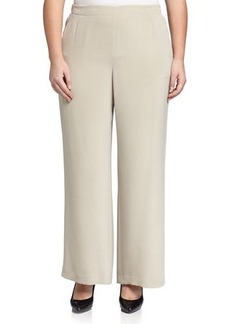 Lafayette 148 New York Plus Wide-Leg Pull-On Pants