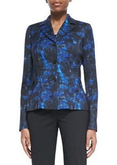 Lafayette 148 New York Polly Printed Peplum Jacket