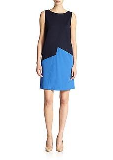 Lafayette 148 New York Ponte Asymmetrical Dress