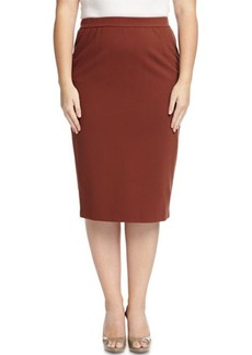 Lafayette 148 New York Plus Ponte Long Pencil Skirt