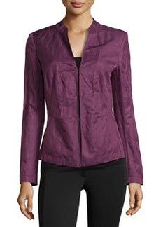 Lafayette 148 New York Poplin Stand-Collar Jacket, Fig