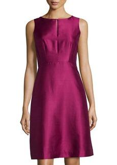 Lafayette 148 New York Porsha Keyhole Sleeveless Dress
