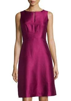 Lafayette 148 New York Porsha Keyhole Sleeveless Dress, Loganberry