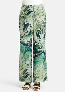 Lafayette 148 New York Print Silk Relaxed Drawstring Pants