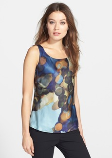 Lafayette 148 New York Print Silk Tank (Regular & Petite)