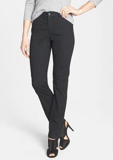 Lafayette 148 New York Print Slim Leg Curvy Fit Twill Jeans